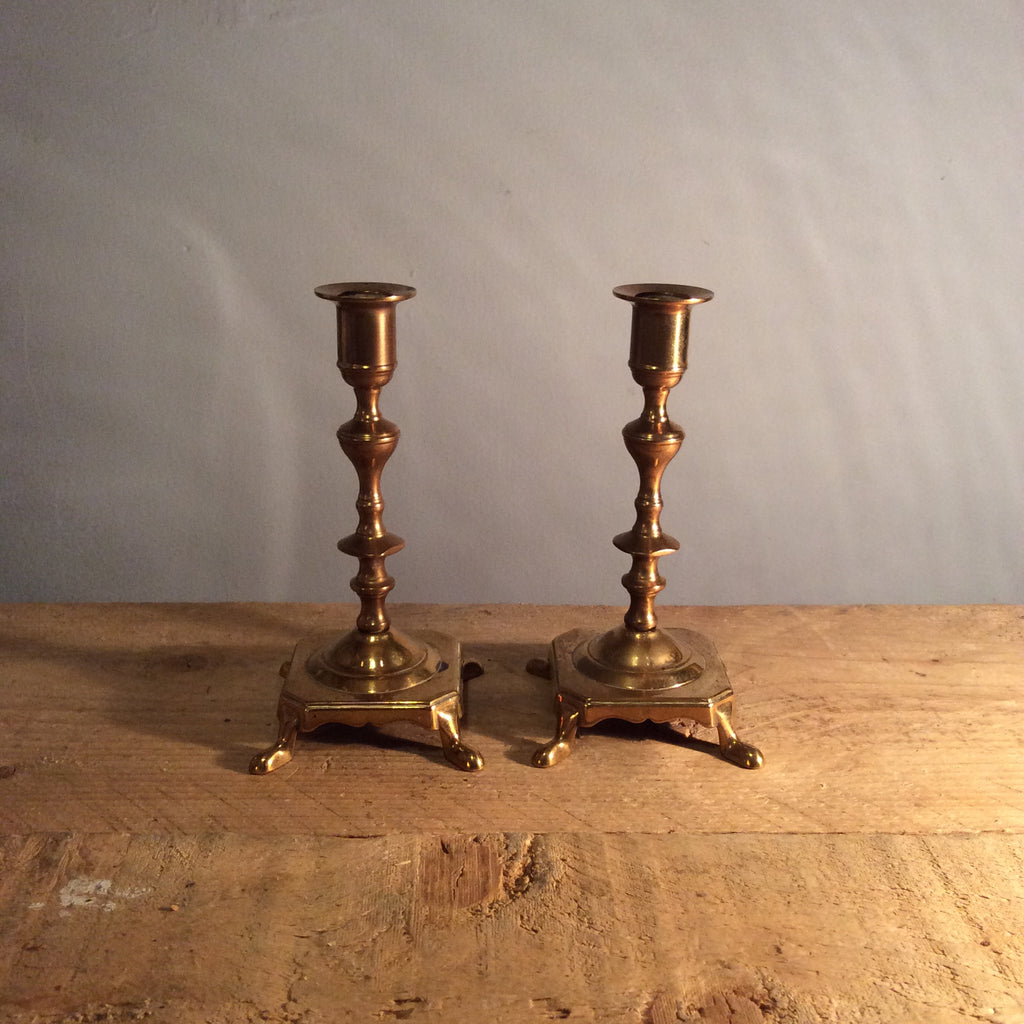 Vintage Candle Sticks With Feet