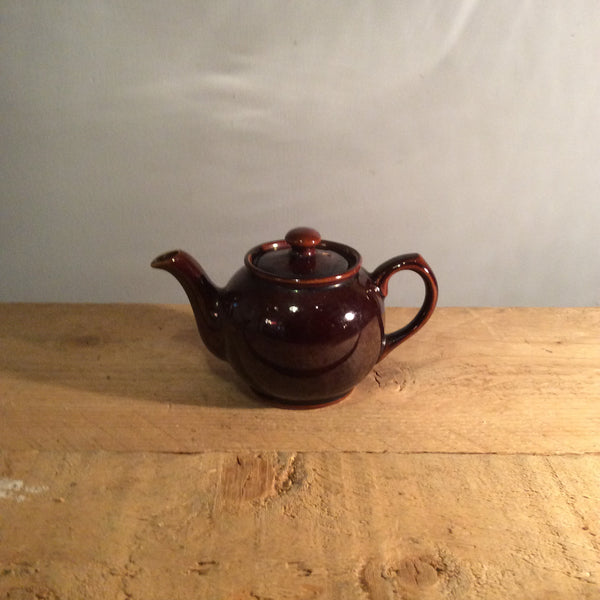 Vintage Small Brown Betty Teapot