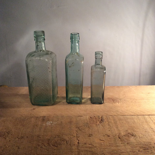Vintage 1920s Glass Bottle Large