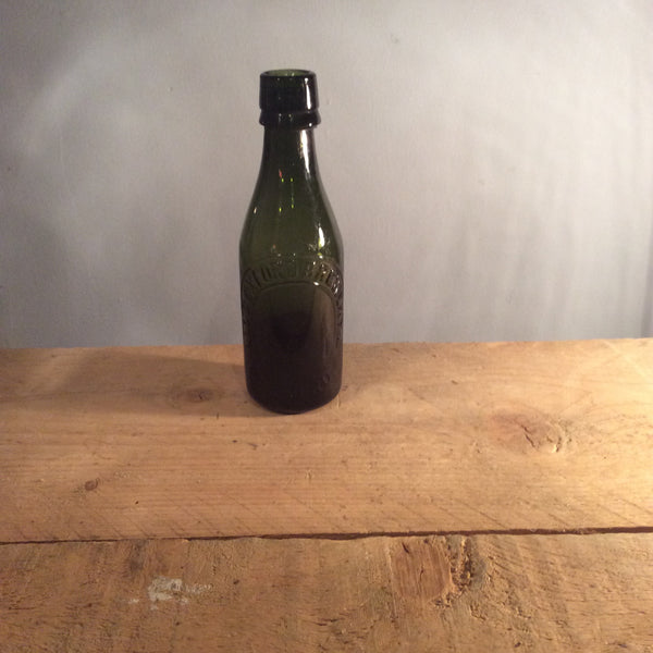 Vintage glass green bottle