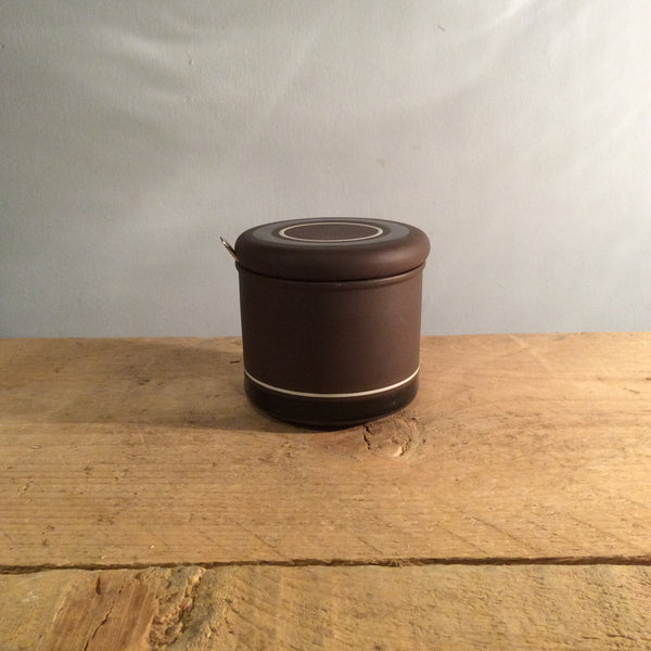 Vintage Black and Brown Hornsea Jam Pot