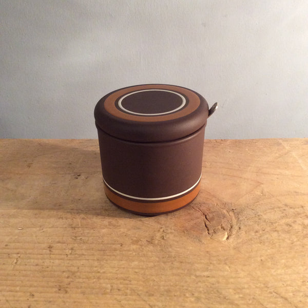 Vintage Light and Dark and Brown Hornsea Jam Pot
