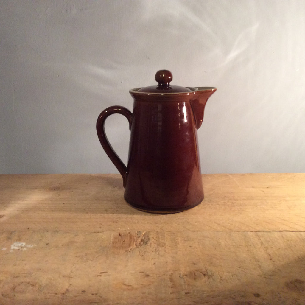 Vintage Brown Coffee Pot - Denby Bourne Retro