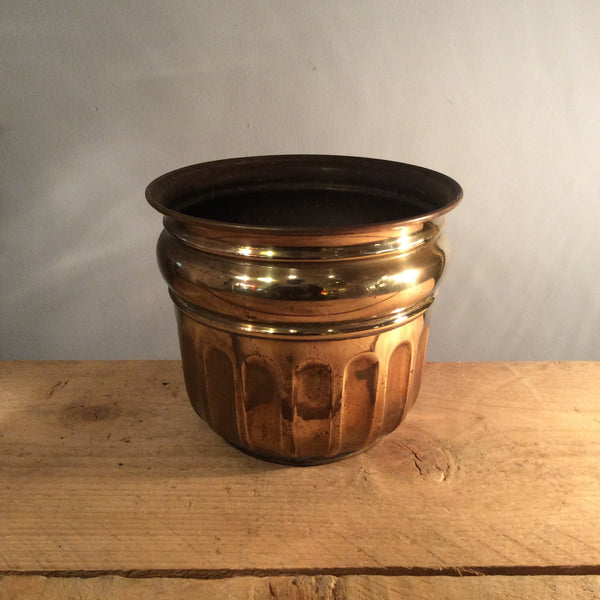 Vintage Brass Plant Pot