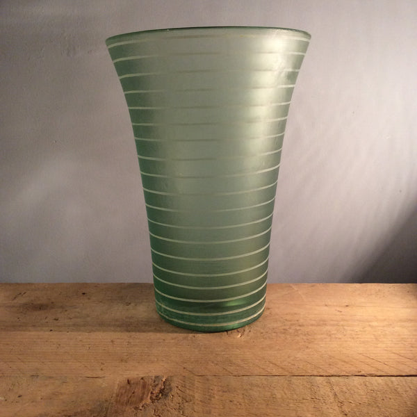 Vintage Tall Light Blue Glass Vase