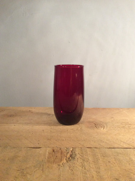 Vintage Individual  Red Glass