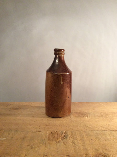 Vintage Brown Ceramic Bottle