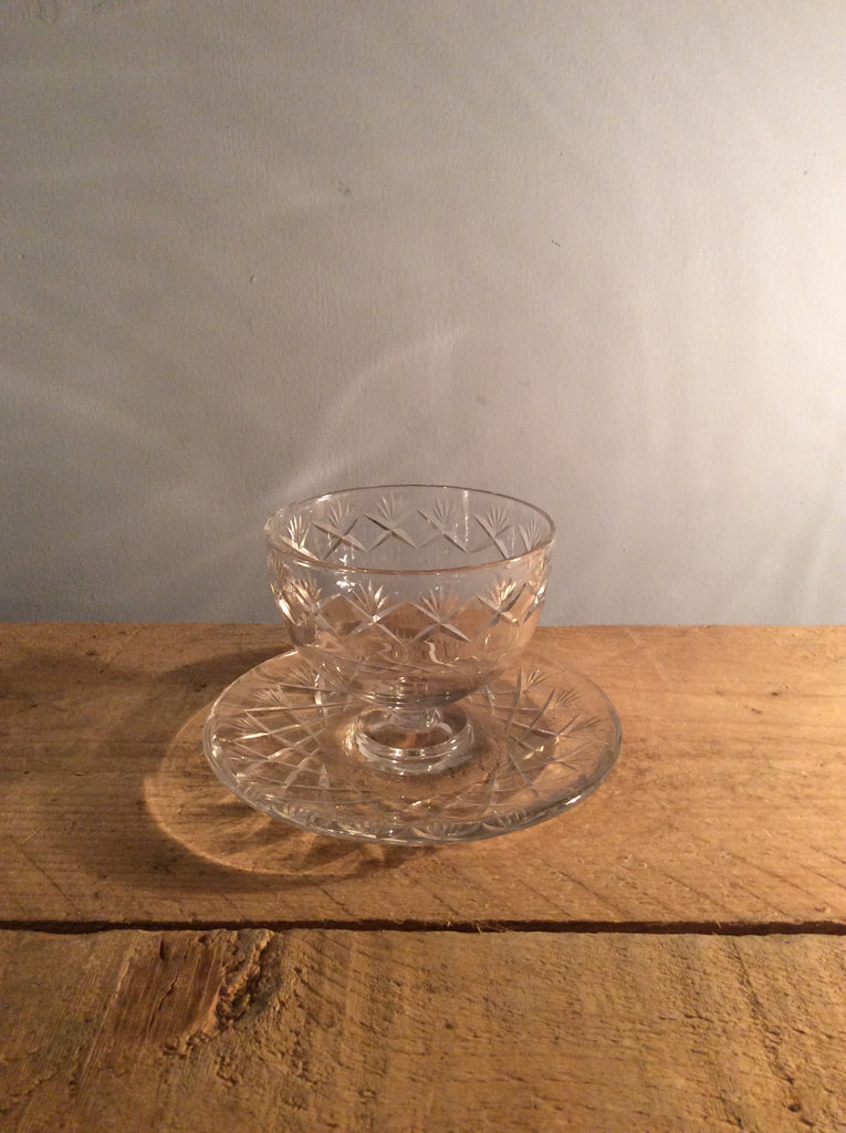 Vintage Cut Glass Bonbon Bowl
