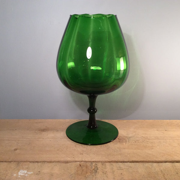 Vintage Glass - Goblet Green Large, 31cm Tall