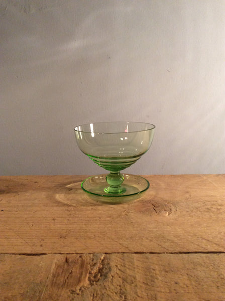 Vintage Light Green Ice Cream Bowl