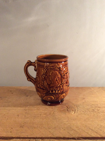 Vintage Brown Ceramic Pot - Bretby England
