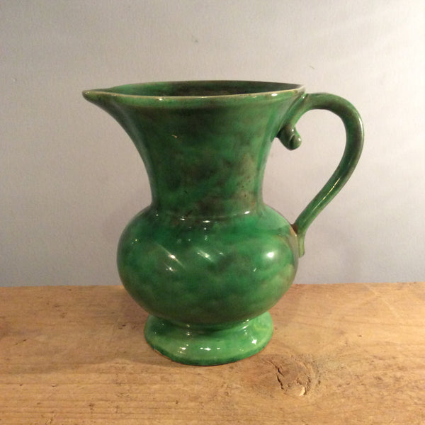 Vintage Green Ceramic Jug