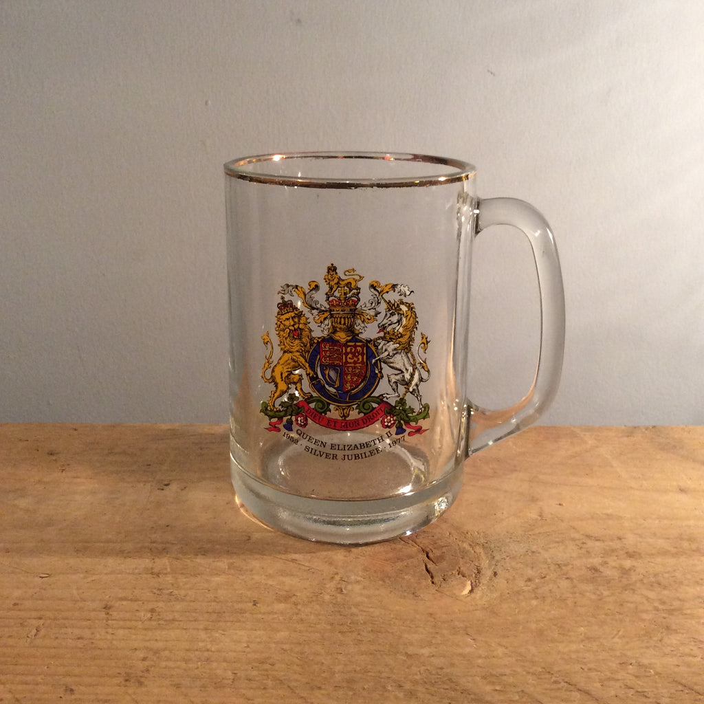 Vintage Commemorative Glass with Handle