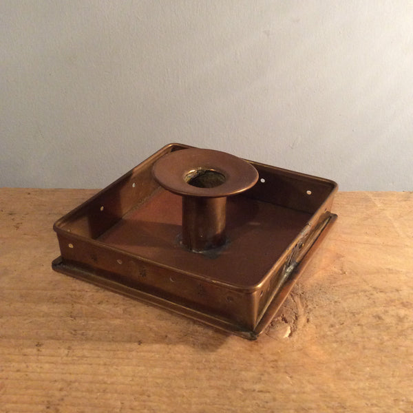 Vintage Art Nouveau Brass Candle Holder