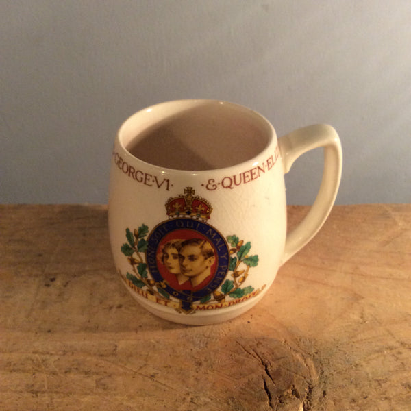 Vintage Commemorative Mug - King George and Queen Elizabeth