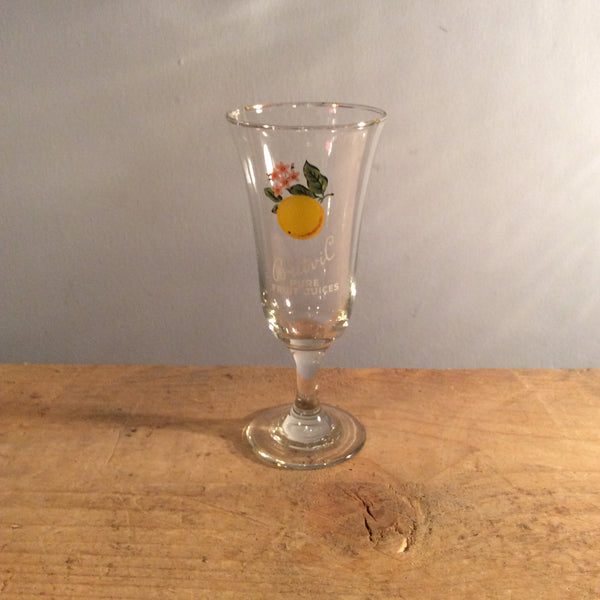 Vintage Britvil Fruit Glass - Lemon