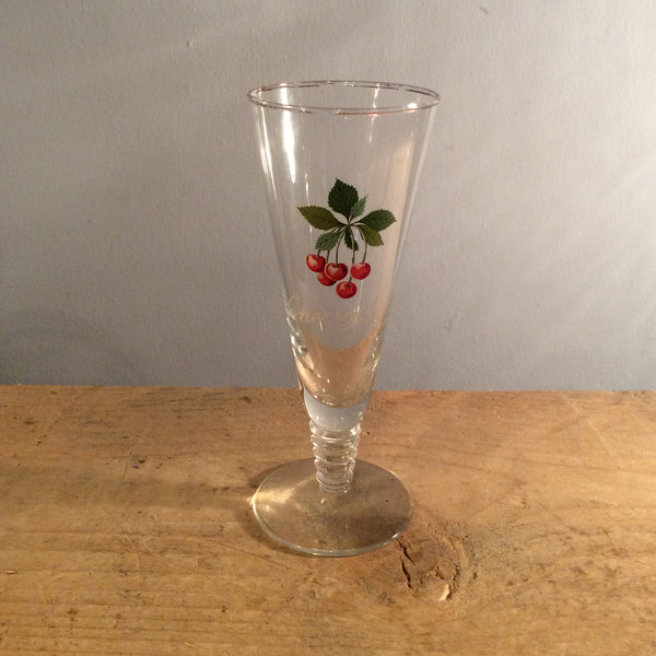 Vintage Cherry B Glass