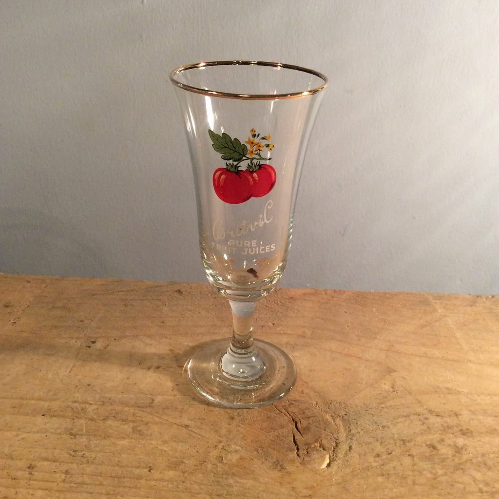 Vintage Britvil Fruit Glass - Tomato