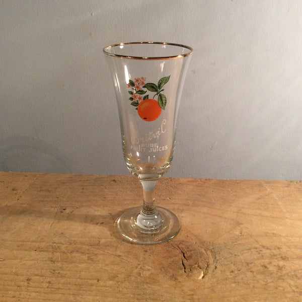 Vintage Britvil Fruit Glass - Orange