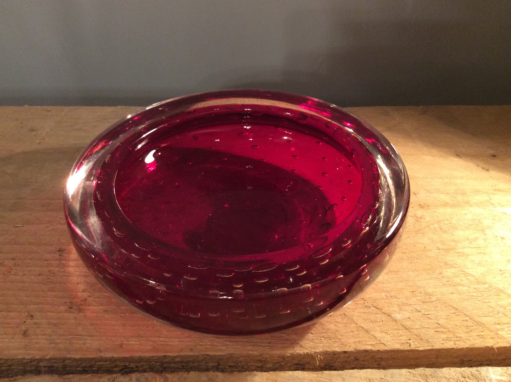 Red Glass ashtray