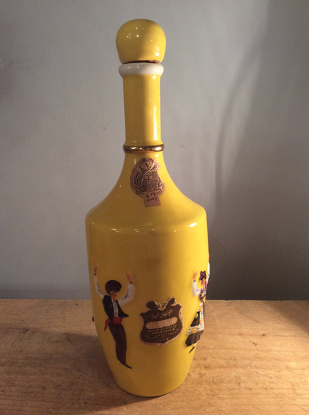 Yellow liquor bottle