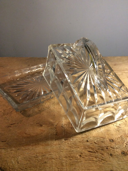 Butter Dish Pressed Glass