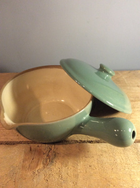 Denby casserole with handle and lid