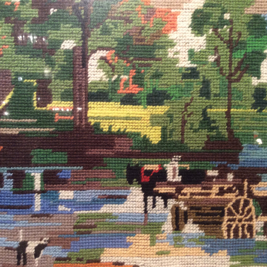 Vintage Tapestry - Horse and Cart Scene
