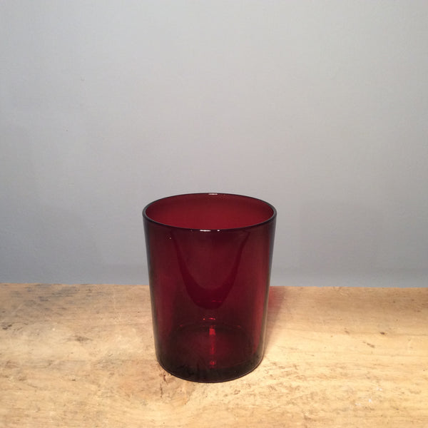 Vintage Individual Red Glass 008