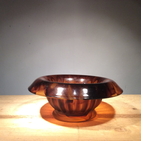 Vintage Smoked Glass Bowl