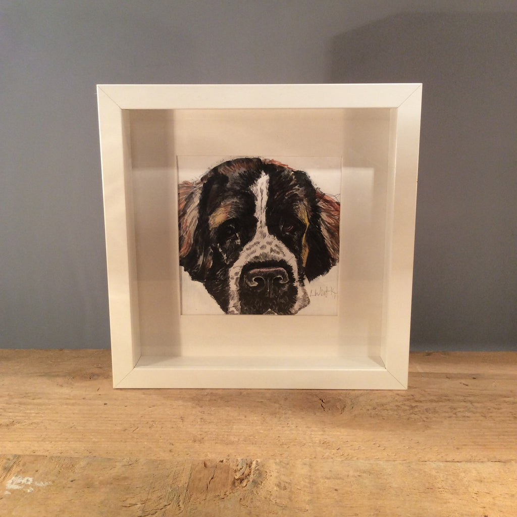 Original Louise West Dog Drawing 01