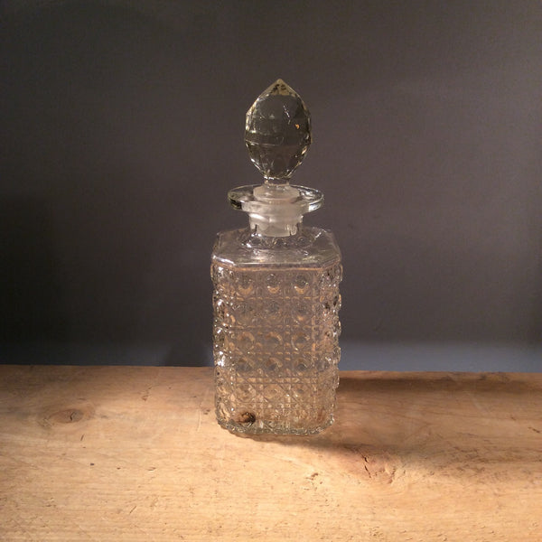 Vintage Pressed Glass Decanter