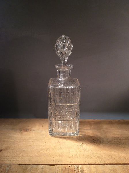 Vintage Cut Glass Decanter