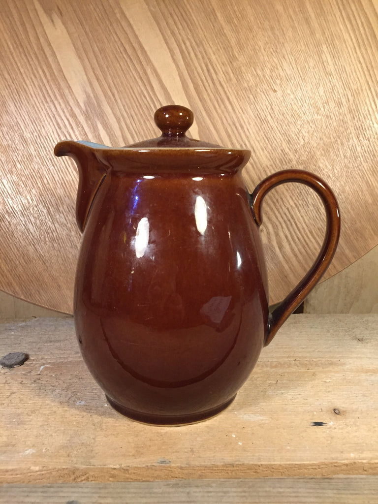 Denby Jug with Lid Brown