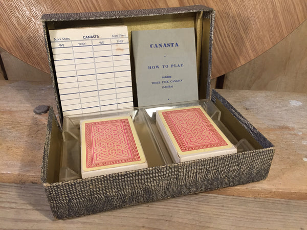 Canasta Set in Box VINTAGE
