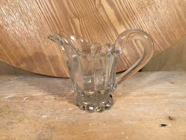 Pressed glass jug