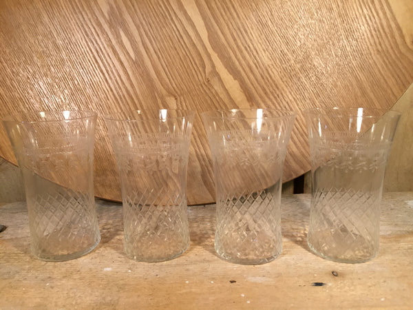 Set of four fine tumblers