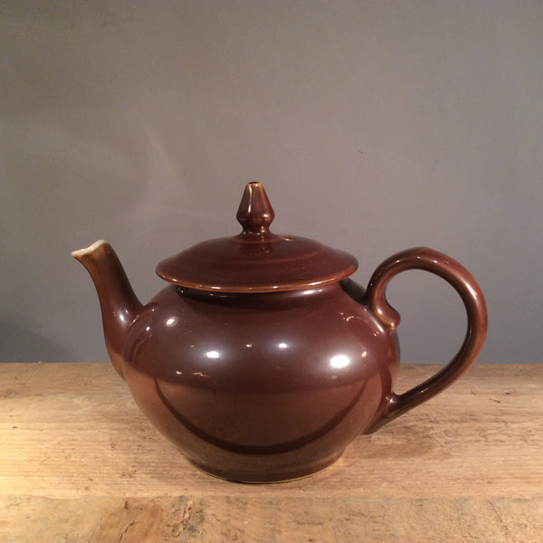 Vintage Ceramic Brown Apilco French Teapot/Coffee Pot