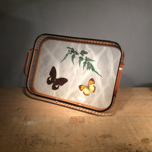 Butterfly Coaster and Tray Set