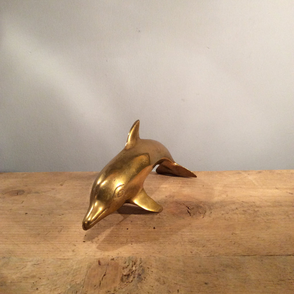 Vintage Brass Dolphin Small