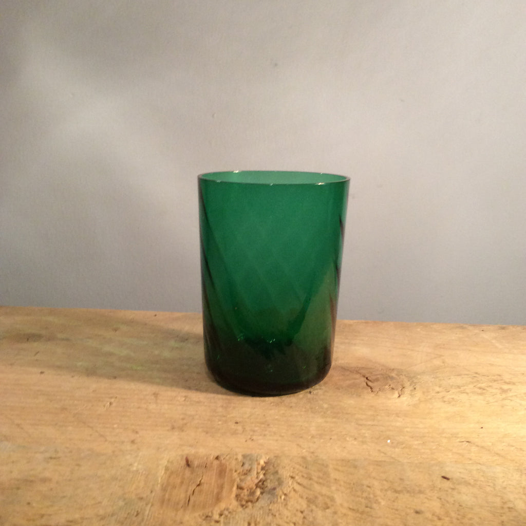 Vintage Green Glass Cup