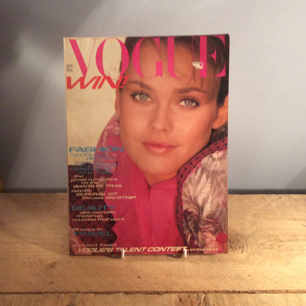 Vintage Vogue Magazine - January 1981