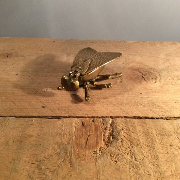 Vintage Bronze Pill Box - Fly