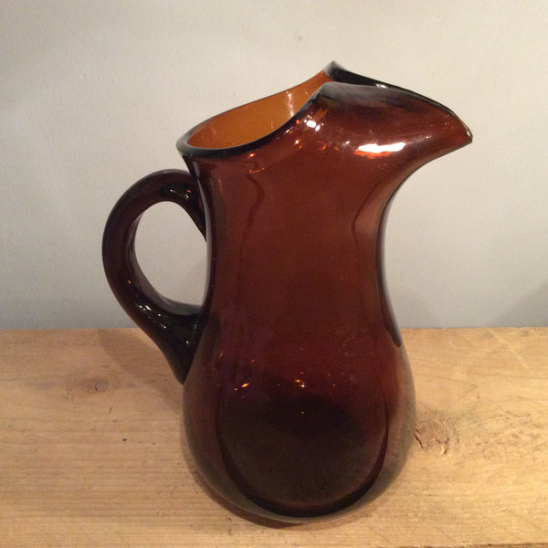 Vintage Brown Glass Jug