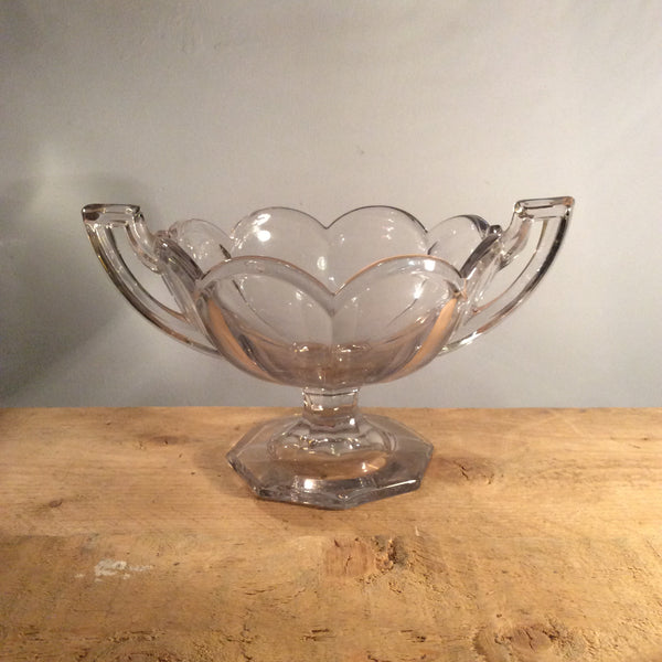 Vintage Glass Chippendale Bowl