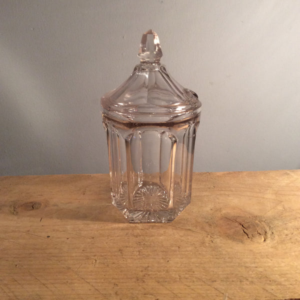 Vintage Glass Chippendale Jam Pot