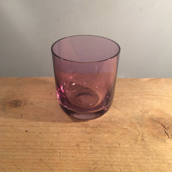 Vintage Purple Glass Tumbler