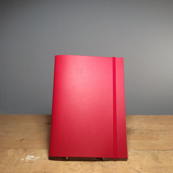 A5 Recycled Leather Notebook - Poppy