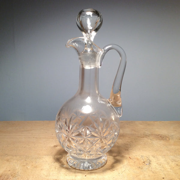 Vintage Cut Glass Decanter 020