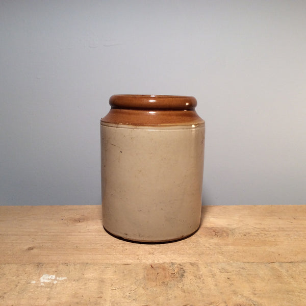 Vintage Ceramic Salt Jar Medium